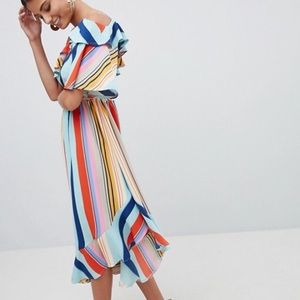 Brand new never worn multi colored ASOS dress